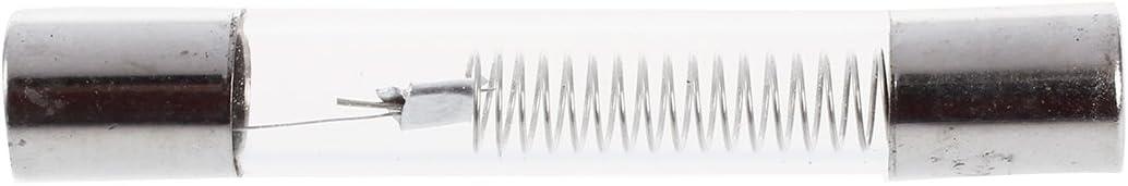 Fusible - SODIAL(R)Microondas 0.7A 5 kV Axial Fusible de tubo de vidrio 6mm x 40mm 5 piezas