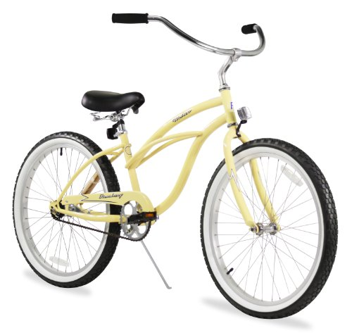 Firmstrong Urban Lady Three Speed Beach Cruiser Bicycle, 26-Inch, Vanilla