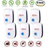 LEOFFY Ultrasonic Pest Repeller for Insects, Mosquitoes, Mice, Spiders, Ant, Rats, Roaches, Bugs/Non-toxic, Extremely Safe for Human, Pets/Plug in Easy to Use/Best Indoor Pest Control Device