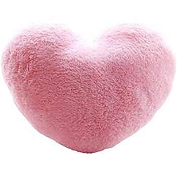 Amazon Pale Pink Soft Heart Shaped 10 X 11 Inch Plush Polyester