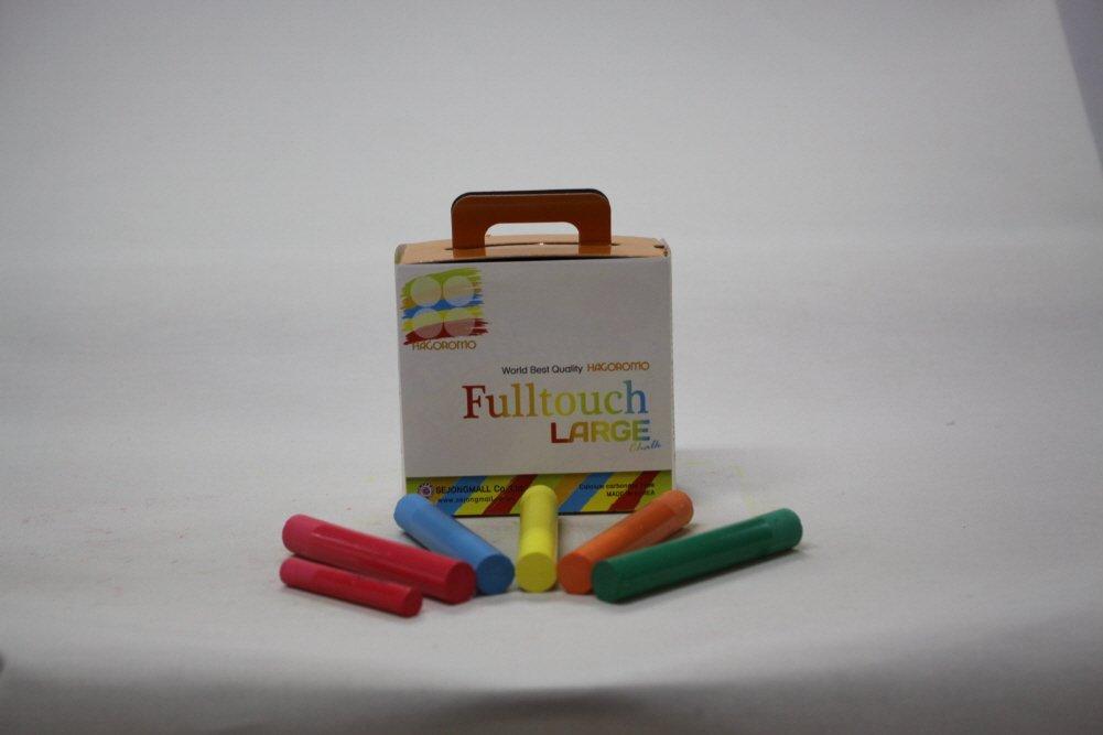 Hagoromo Fulltouch 5-Color Mix Large Chalk 1Box Green Red Orange Yellow 15pcs Blue