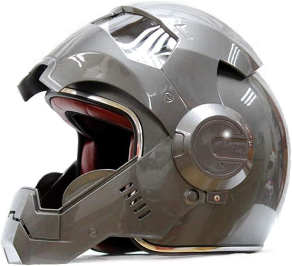 TRES RARE ET COLLECTIBLE Vintage Harley Protection totale du visage pour adultes scooter v/élomoteur Flip Up Casques conformer aux lois route Casque de moto pleine /échelle Iron Man /électronique S