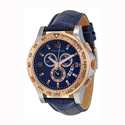 Nautica Men's NAD19502G NST 600 Chrono Analog Display Japanese Quartz Blue Watch