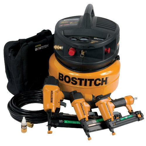 Factory-Reconditioned BOSTITCH U/CPACK300 3-Tool and Compressor Combo ()