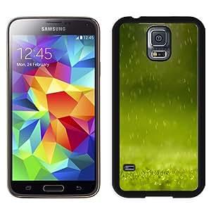 New Beautiful Custom Designed Cover Case For Samsung Galaxy S5 I9600 G900a G900v G900p G900t G900w With Green Rain Nature Phone Case