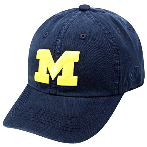 - Top of the World NCAA Michigan Wolverines Men's Adjustable Hat Relaxed Fit Team Icon, Navy