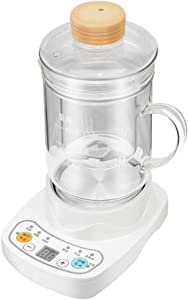 HXR ceramic electric kettle electric heating cup smart health pot small slow cooker automatic porridge soup tea for 1-2 people (Glass cup 0.6L)