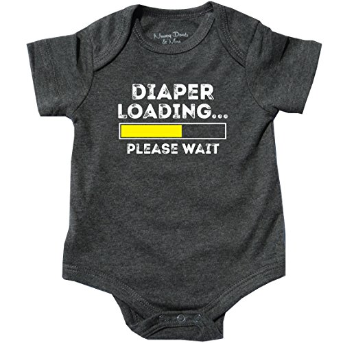 Feisty and Fabulous Diaper Loading, Amazing, Hilarious Jumper, Gray, 0-3 mo