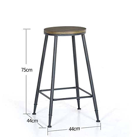 Marvelous Amazon Com Modern Metal Bar Stool Counter High Stool Squirreltailoven Fun Painted Chair Ideas Images Squirreltailovenorg