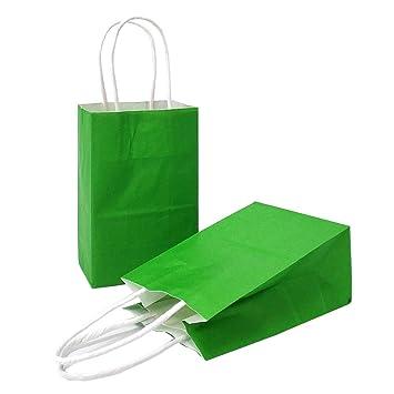 Amazon.com: AZOWA Bolsas de regalo, bolsas de papel kraft ...