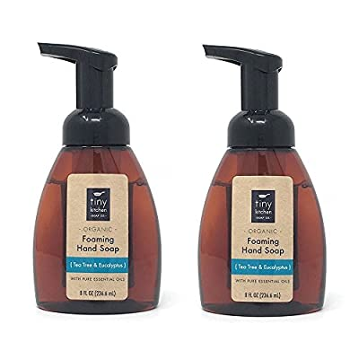 Tea Tree & Eucalyptus Foaming Hand Soap (2 Pack) Handmade with Organic Base and Essential Oils