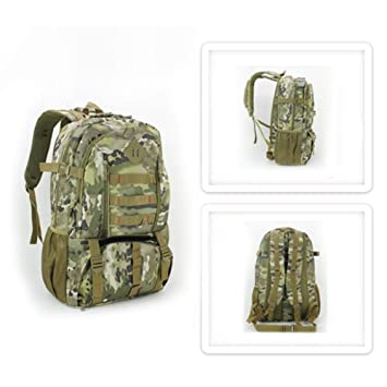 f65075e76767 Smartey Backpack - Waterproof Large Capacity 50L Outdoor Backpack for Male  - Extended Camouflage Bag Backpack