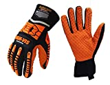 Seibertron HIGH-VIS SDXO2 Supergrip and Gel Filled Anti Vibration Oil Resistant and Water Resistant Palm Impact Anti-Vibe Protection Full Finger Safety Working Gloves L