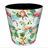 PINCHUANGHUI Trash Can Flamingo Pattern Storage Wastebasket Uncovered Recycle Bins for Kitchen Household Office Decoration,Style 2