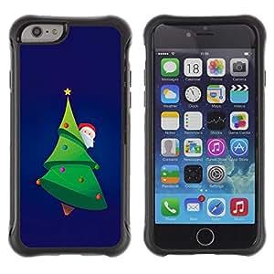 Suave TPU GEL Carcasa Funda Silicona Blando Estuche Caso de protección (para) Apple Iphone 6 PLUS 5.5 / CECELL Phone case / / Christmas Tree Picea Santa Green Beard Hat /