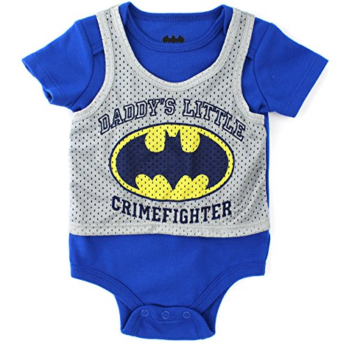 Batman Baby Bodysuit Pinnie (3/6M)