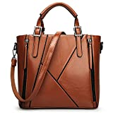 Women Handbag,Women Bag, KINGH Vintage PU Leather Shoulder Bag Casual Crossbody Bag 083 Brown