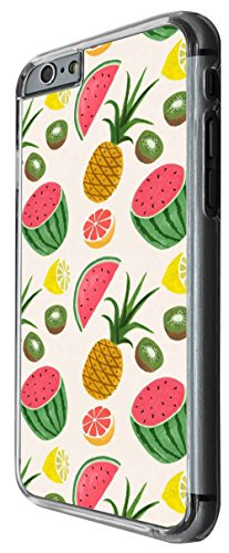 921 - Collage Fruit Watermelon Pineapple Lemon Kiwi Design For iphone 6 6S 4.7'' Fashion Trend CASE Back COVER Plastic&Thin Metal -Clear