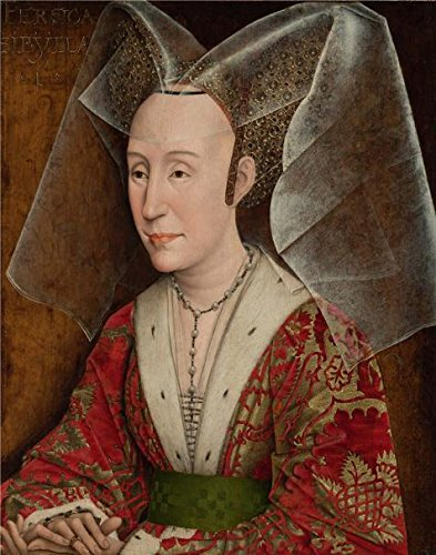 Oil Painting 'Portrait Of Isabella Of Portugal, About 1450 By Workshop Of Rogier Van Der Weyden' 12 x 15 inch / 30 x 39 cm , on High Definition HD - Pier Shops 39 On