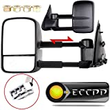 02 f150 tow mirrors - ECCPP Towing mirrors For 1997 1998 1999 Ford F150 F250 Standard & Extended Cab (Not for 4 Doors Crew Cab Models) Power Adjusted Telescoping Tow Mirrors Pair