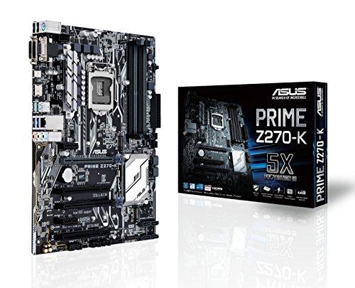ASUS PRIME Z270-K LGA1151 DDR4 HDMI DVI VGA M.2 Z270 ATX Motherboard with USB 3.1 (Best Asus Motherboard For I5 7600k)