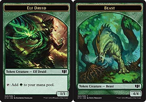 Magic: the Gathering - Elf Druid Token // Beast (4/4) Token - Commander 2014