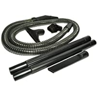 Panasonic Upright Vacuum Cleaner Replacement Hose/Attachment Kit, contains a 6 foot long 1 1/4 black vinyl wire reinforced hose, dust brush, upholstery nozzle, crevice tool and 2 black plastic wands