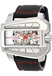 ANDROID Men's AD709AGY Concept S Analog Automatic-Self-Wind Black Watch