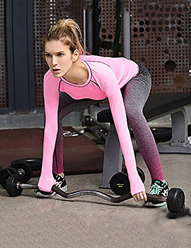 Fashionbabies - Medias deportivas - para mujer Rosa Roja