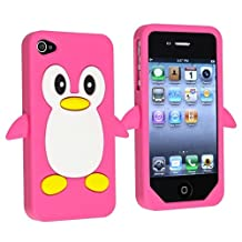 Penguin Silicone Skin Case compatible with Apple? iPhone? 4 / 4S, Pink