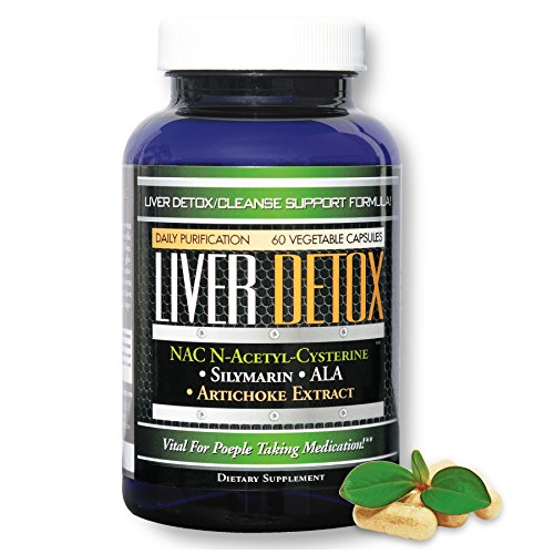 Natural Liver Cleanse Detox & Rescue Support Formula with the Purification Power of NAC N-Acetyl-Cysteine, Silymarin (Milk Thistle), Artichoke Extract And much more! 30 servings! Great Value!