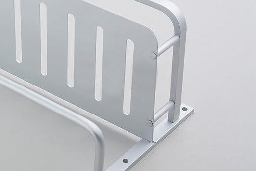 Chrasy Estantería de Baño de Aluminio, 40cm Barra de Toalla y 2 Ganchos de Pared, Ahorro de Espacio con fácil Ducha, Accesorios de baño para almacenar ...