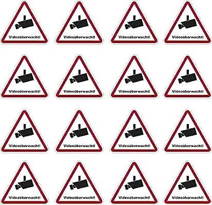16 pegatinas autoadhesivas PVC suelo mojado 52 x 47 mm ...