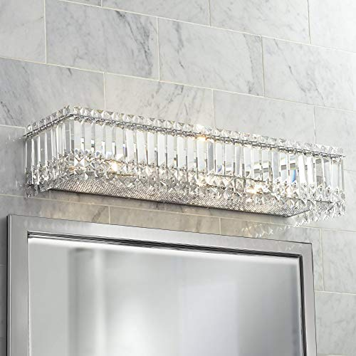 - Modern Wall Light Cut Crystal Columns Chrome 30
