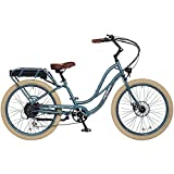 "Pedego Interceptor 26"" Step Thru Mineral Blue with Creme Balloon Package 48V 10Ah"