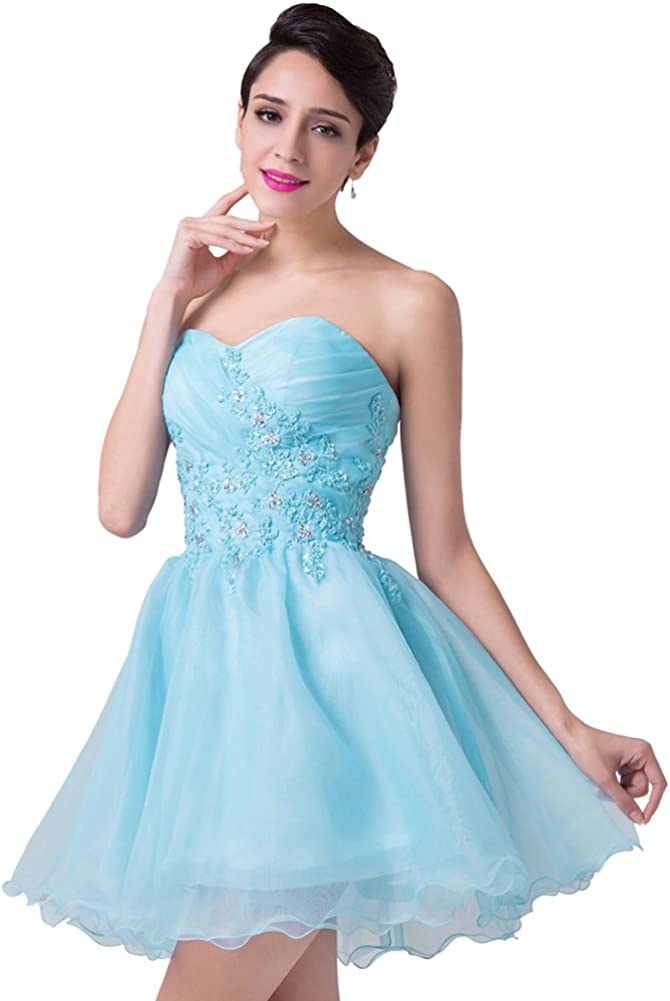 JoyVany Sweetheart Beaded Party Dress 2016 Short Cocktail Dress with Applique