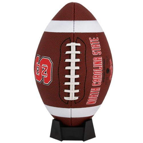 Nc State Football - NCAA Game Time Full Size Football , North Carolina State, Brown, Full Size