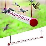 Dr. Dakota Best Hummingbird Feeder, Bird Feeder with Bright Red Transparent Tube, Suitable for Outdoor Deck Terrace Garden Fe