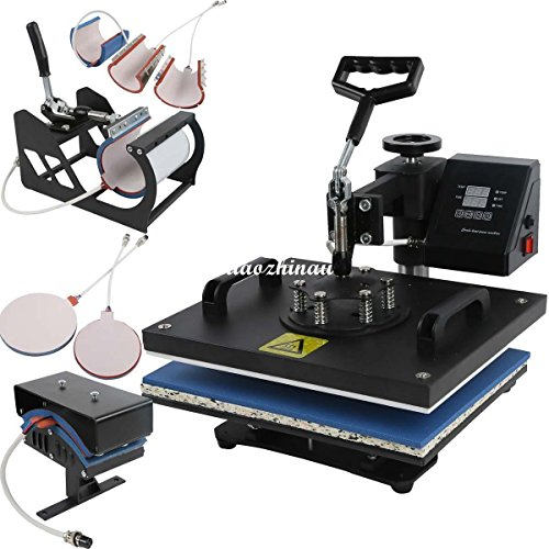 Professional 8 in 1 Multifunction Digital Heat Press Machine Transfer Sublimation T-Shirt Mug Hat Cap 15x12'' by XFMOTO