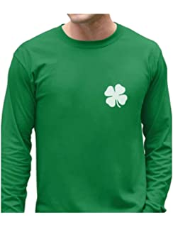 cc3bd31f Irish Shamrock Pocket Size Clover St. Patrick's Day Long Sleeve T-Shirt