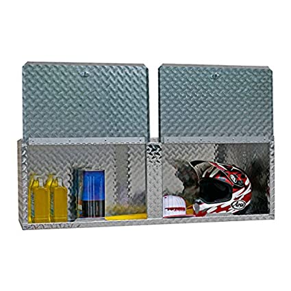 Pit Posse 902 Overhead Storage Aluminum Cabinet Shop Garage Enclosed  Trailer Accessory Accessories Diamond Plate 48u0026quot