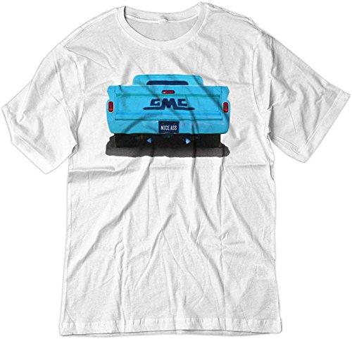 (BSW Men's Nice Ass 1964 GMC Truck Hot Rod Shirt LRG White)