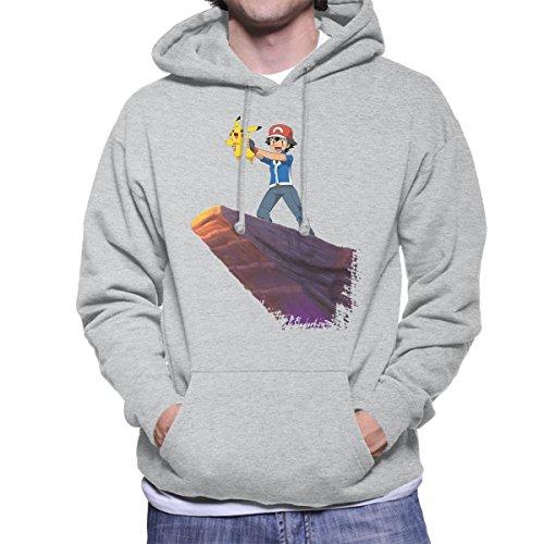 Pokemon-Ash-And-Pikachu-Lion-King-Born-Scene-Mens-Hooded-Sweatshirt