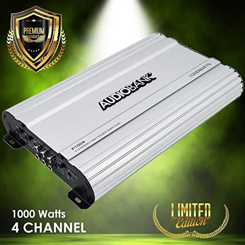 Audiobank 4 Channels 1000 WATTS Bridgedable Car Audio Stereo Amplifier P1004