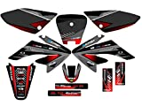 Senge Graphics 2004-2013 Honda CRF 70 Surge Black Graphics kit