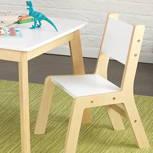 KidKraft 27025 Modern Table And 2 Chair Set White, 23.6 X 23.6 X 19
