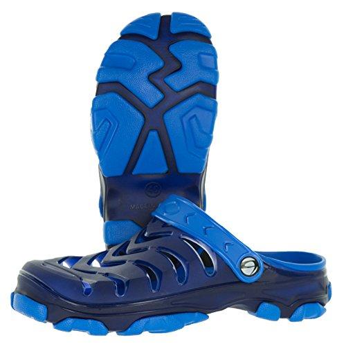 Beppi Clogs Herren Schuhe Pantoletten | Hausschuhe Gartenschuhe Badeschuhe klogs Sommerschuhe | Bequem Weich Navy-Blau | 44