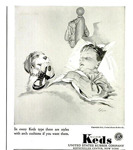 ORIGINAL *PRINT AD* 1940 KEDS TENNIS SHOES