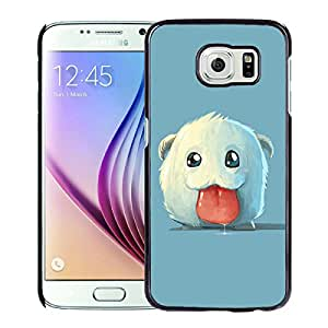 Fashionable Custom Designed Skin Case For Samsung Galaxy S6 With poro Black Phone Case