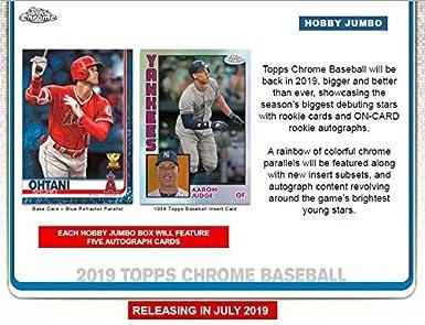Amazoncom 2019 Topps Chrome Baseball Jumbo Box 12 Packs
